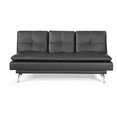 Medina Convertible Sofa Black   Relax A Lounger