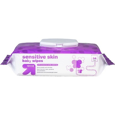 Baby Wipes Sensitive Skin 64ct - Up&Up™