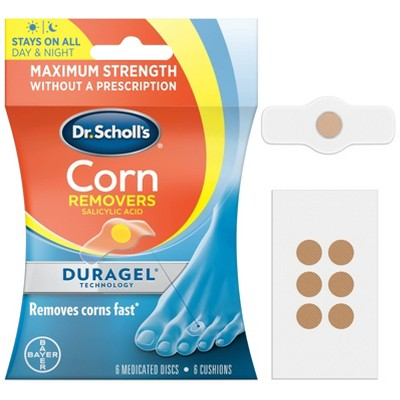 Dr Scholl's Duragel Medicated Corn Remover Bandages - 6ct