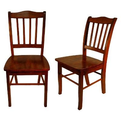 Beau Shaker Dining Chair Wood/Brown (Set Of 2)   Boraam