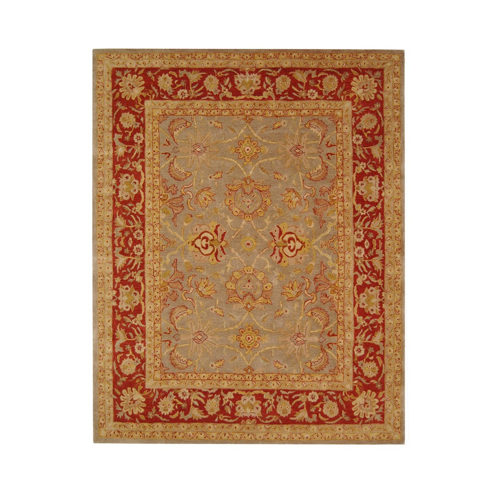 Gray/Red Floral Tufted Area Rug 8'X10' - Safavieh, Graynred