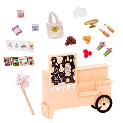 """Lori - Food Cart for 6"""" Mini Dolls - Take-Away Treat Cart"""