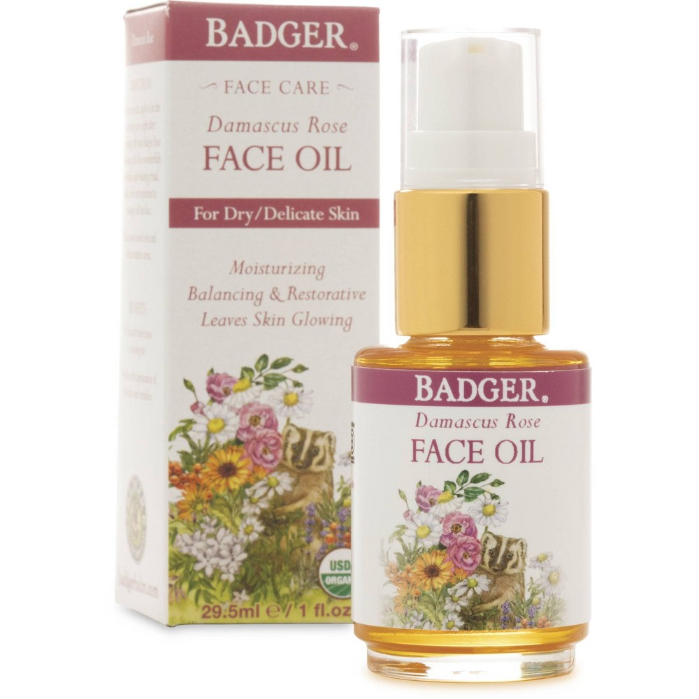 Image of Badger Damascus Rose Face Oil - 1 fl oz