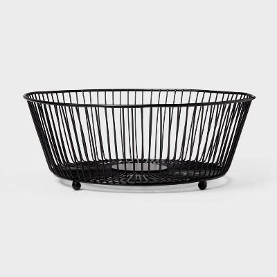 Iron Wire Fruit Basket Black - Threshold™