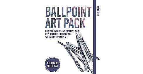 Ballpoint Art Pack : Creative Techniques and Explorations for Drawing with an Everyday Pen (Paperback) - image 1 of 1
