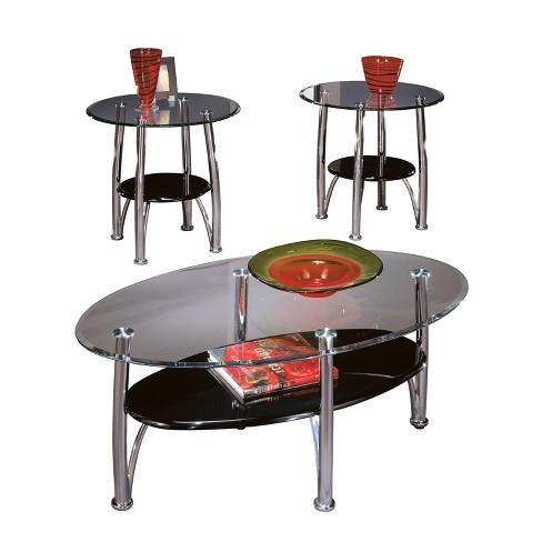 Dempsey Table (Set of 3) - Chrome Finish  - Signature Design by Ashley - image 1 of 2