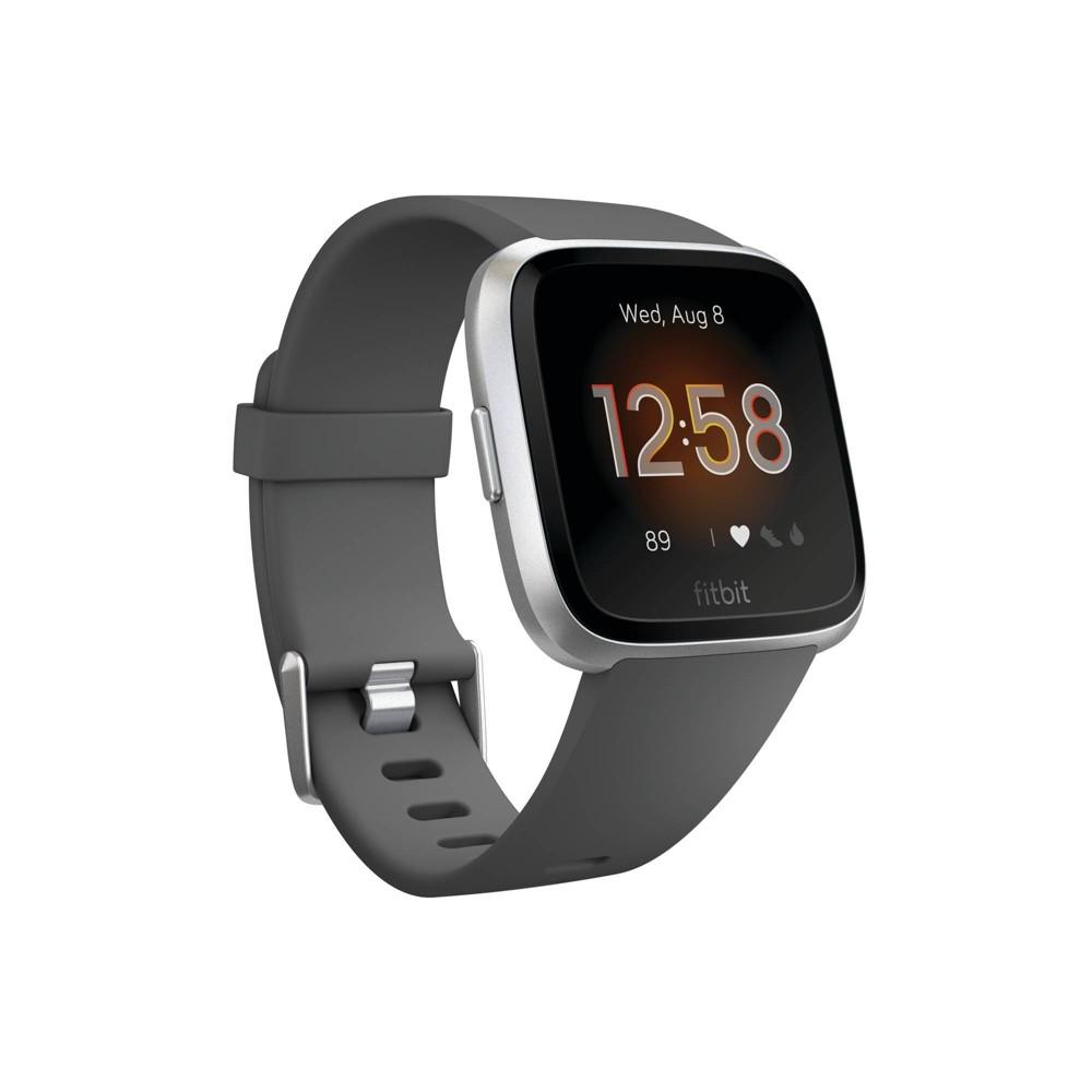 Fitbit Versa Lite Edition Smartwatch - Charcoal Gray, Grey Gray