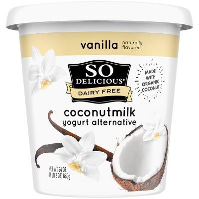So Delicious Dairy-Free Vanilla CoconutMilk Yogurt Alternative - 24oz