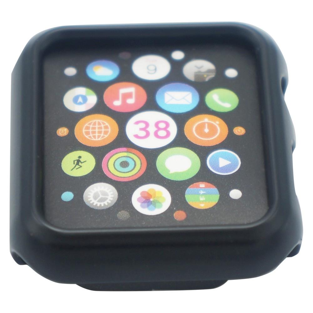 iPM Premium Shiny Hard Plastic Protective Border Case for Apple Watch Black - 38mm, Adult Unisex