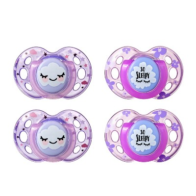 Tommee Tippee Night Time Orthodontic 2ct Pacifiers - 18-36m