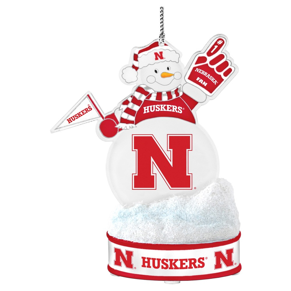 NCAATopperscot Led Snowman Ornament Nebraska Cornhuskers