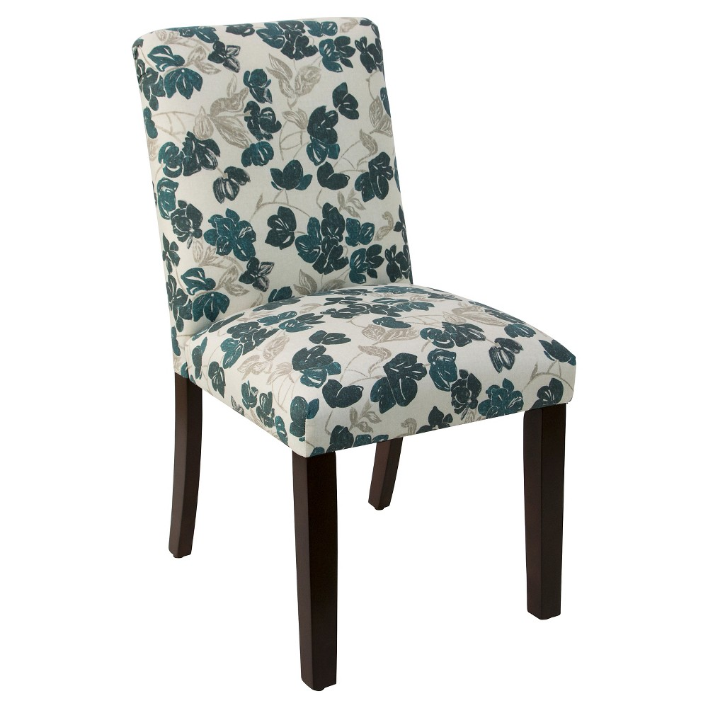 Hendrix Dining Chair Bloom Turquoise - Cloth & Co