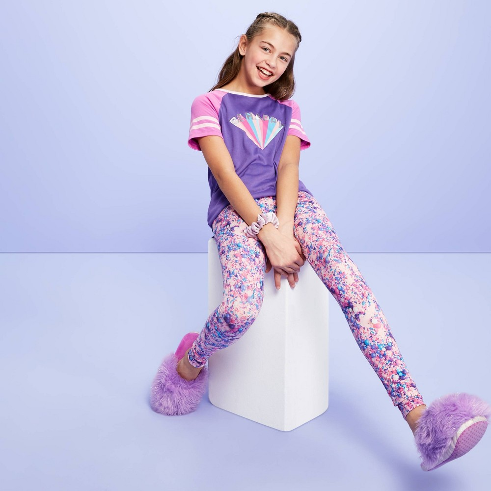 Girls' 'Be Happy' Tunic Pajama Set - More Than Magic Purple 4 was $12.99 now $9.09 (30.0% off)
