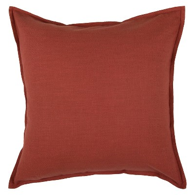 """20""""x20"""" Solid Throw Pillow Paprika - Rizzy Home"""