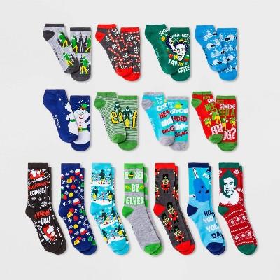 Women's Elf 15 Days of Socks Advent Calendar - Assorted Colors 4-10