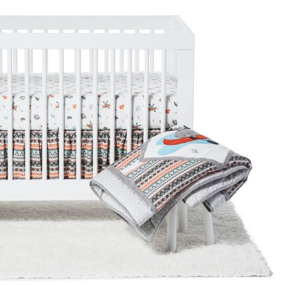 Trend Lab Crib Bedding Set - Moose Canoe - 4pc