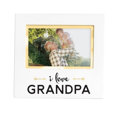 "Pearhead Keepsake Picture Frame 4"" x 6"" - ""I love Grandpa"" White"