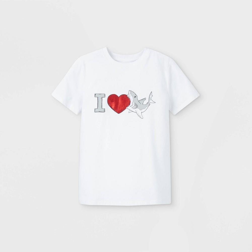 Boys 39 39 I Love Sharks 39 Graphic Short Sleeve T Shirt Cat 38 Jack 8482 White Xxl