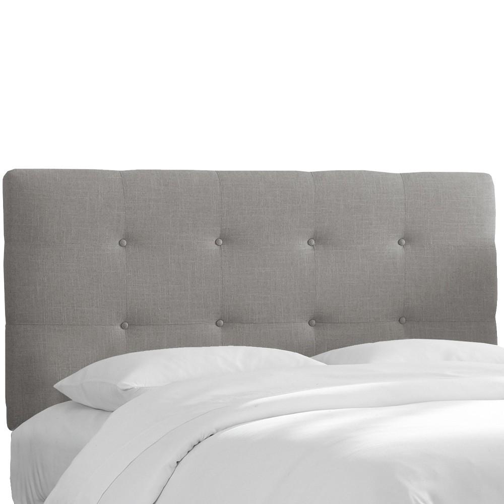 Queen Dolce Headboard Gray Linen - Cloth & Co., Grey Linen