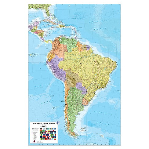 "Wall Pops!  Dry Erase Map Decal 24"" x 36"" - South America - image 1 of 3"