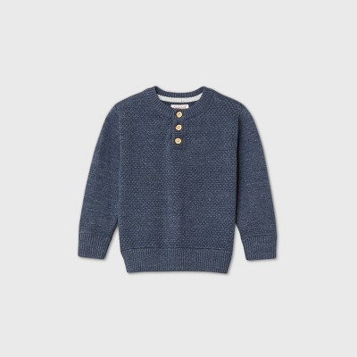 Toddler Boys' Henley Pullover Sweater - Cat & Jack™ Navy