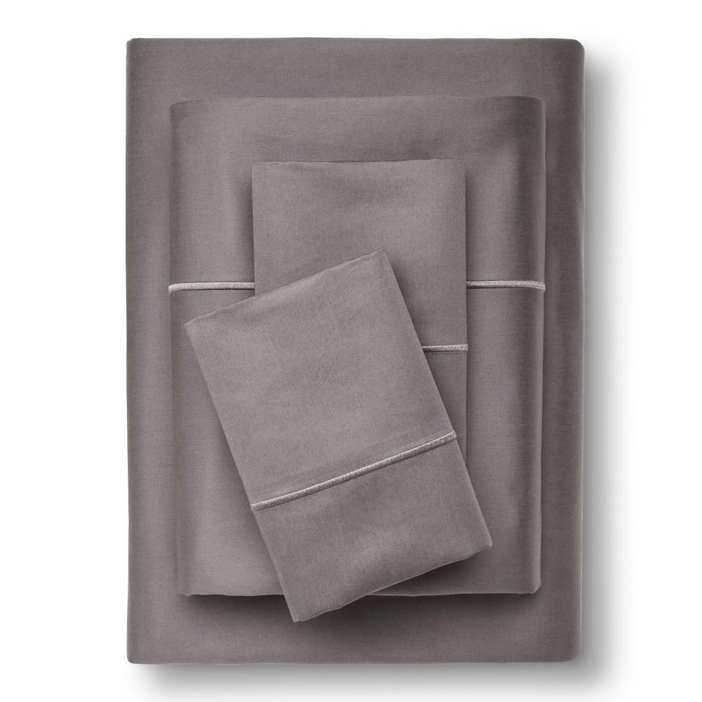 Supima Cotton Sheet Set (Full) Gray Marble 1000 Thread Co...