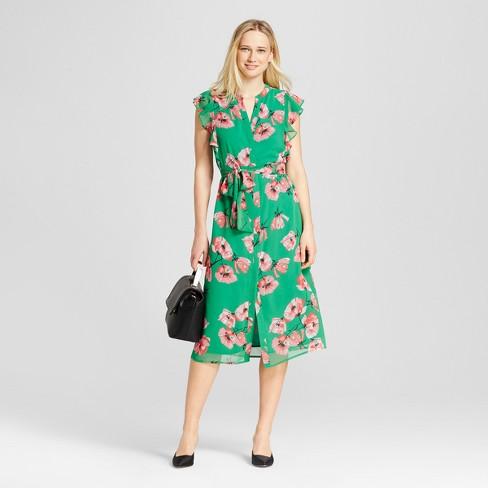 b0523f762805 Women s Ruffle Sleeve Midi Dress - Who What Wear™. Shop all Who What Wear