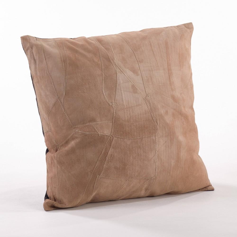 16 34 X16 34 Classic Leather Poly Filled Throw Pillow Camel Saro Lifestyle