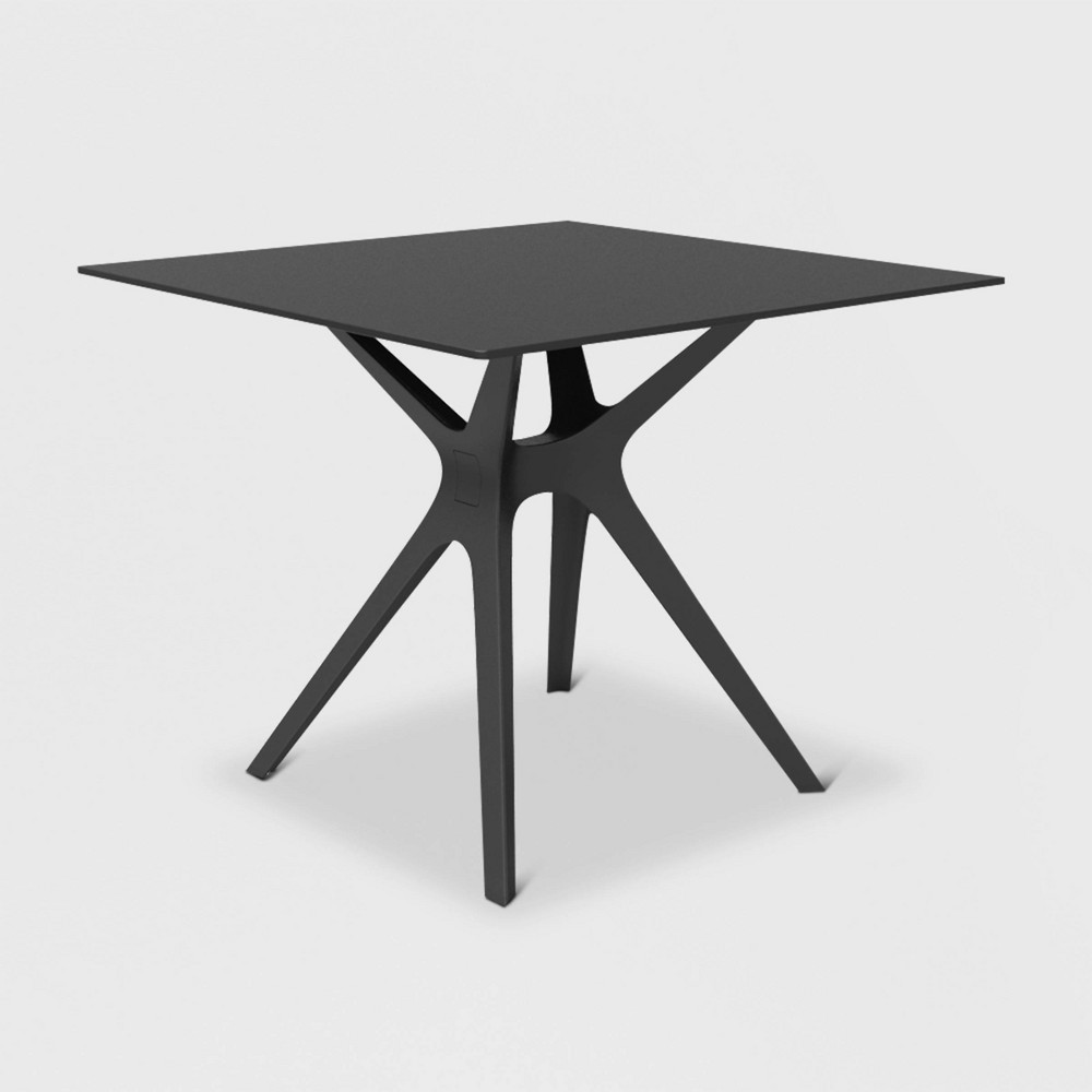 Vela S Square Patio Table - Black - Resol