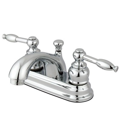 Center Set Bathroom Faucet 4  Chrome - Kingston Brass