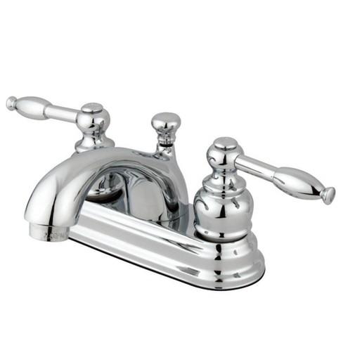 Center Set Bathroom Faucet 4 Chrome