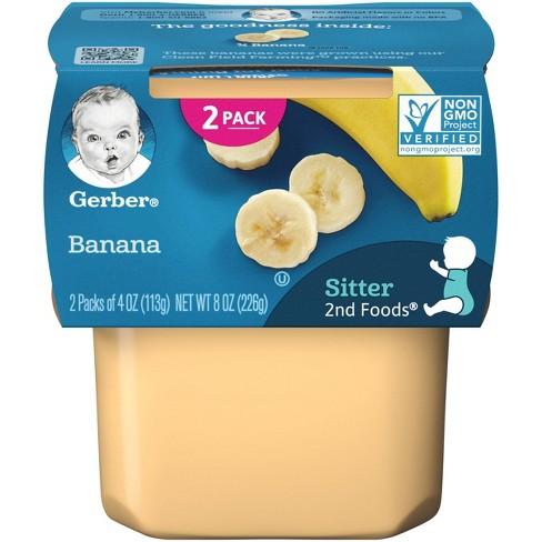Gerber Sitter 2nd Foods Banana Baby Meals - 2ct/4oz Each - image 1 of 4