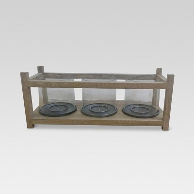 Wood and Metal Candle Holder - Threshold™