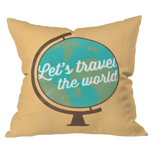 Lets Travel Throw Pillow - Deny Designs® - image 1 of 2