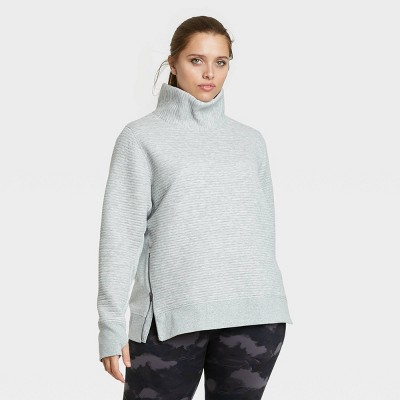 Women's Quilted Pullover with Funnel Neck Collar - All in Motion™