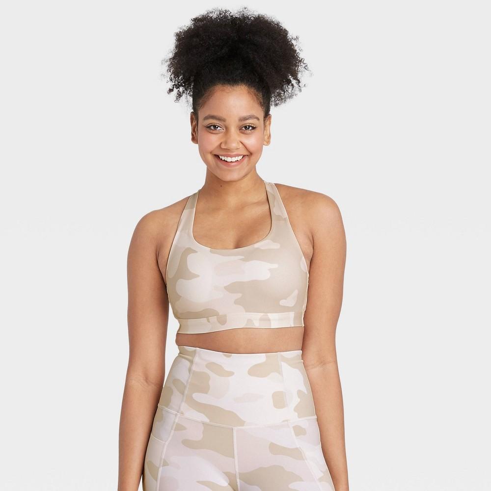 Women 39 S Medium Support Camo Print T Back Bra All In Motion 8482 White Xl