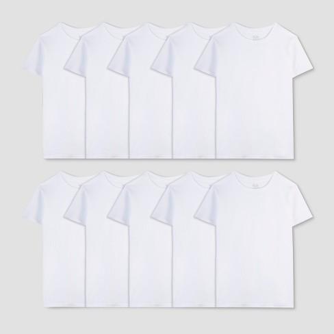 851dd1ef1212 Fruit Of The Loom Boys' 7+3 Bonus Pack T-Shirts - White : Target