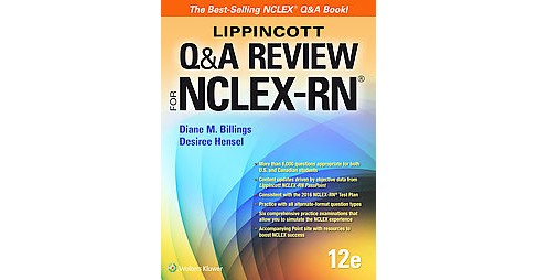 Lippincott Q&A Review for NCLEX-RN (Student) (Paperback) (R.N. Diane M. Billings & Desiree Hensel) - image 1 of 1