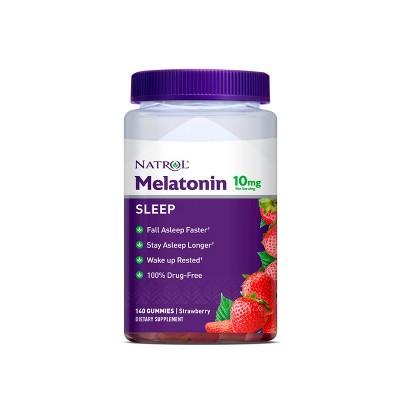 Natrol Melatonin 10mg Sleep Aid Gummies - Strawberry - 140ct