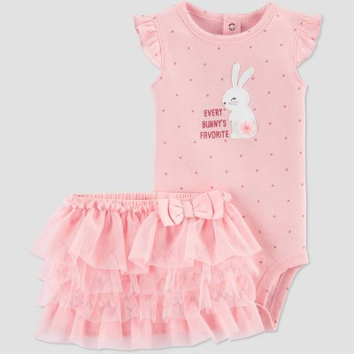 Baby Girls' Easter Bunny Top and Tutu Bottom Set - Just One You® made by carter's Pink 3M