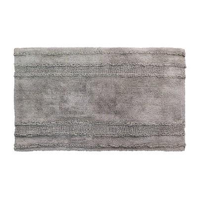 "21""x34"" Ruffle Border Bath Rug Gray - Better Trends"