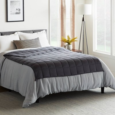 "60"" x 80"" Comfort Collection 20lbs Weighted Bed Blanket Gray - Lucid"