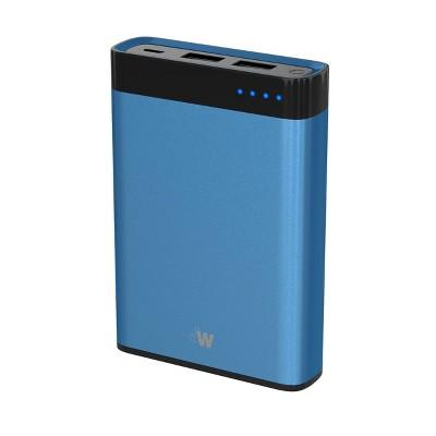 Just Wireless 10000mAh 2-Port Power Bank - Blue