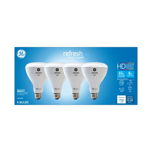 General Electric 4pk Ca Refresh LED Light Bulb Dl BR30 Reflector Dimming - image 1 of 4