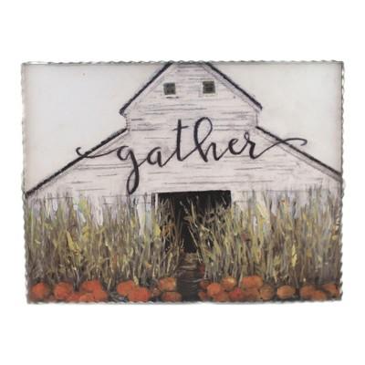 "Fall 12.0"" ""Gather"" Barn Print Farm Life Autumn  -  Wall Sign Panels"