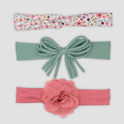 Baby Girls' 3pk Floral Headwrap - Just One You® made by carter's
