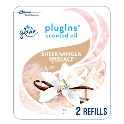 Glade  Sheer Vanilla Embrace PlugIns Refill - 2ct