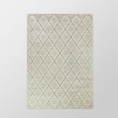 9' x 12' Diamond Outdoor Rug Gray - Smith & Hawken™
