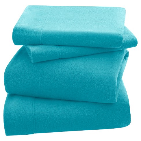 3M Scotchgard™ Micro Fleece Sheet Set (Full) Aqua - image 1 of 4