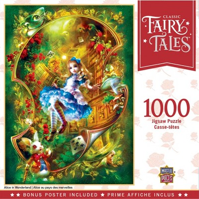 MasterPieces Classic Fairytales Puzzles Collection - Alice in Wonderland 1000 Piece Jigsaw Puzzle